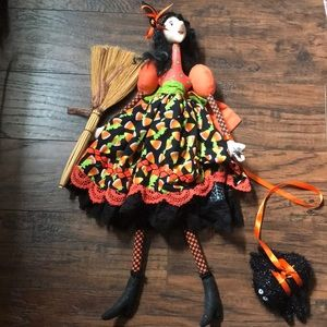 Vintage 80s 90s handmade witch doll quilter
